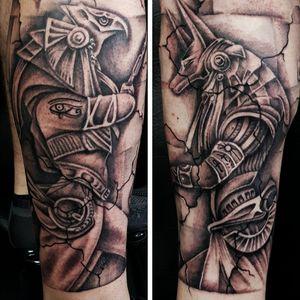 Ongoing Egyptian leg sleeve..thanks peeps #egyptian #egyptiantattoo #legtattoo #blackandgreytattoos #inkedup #tattooartist
