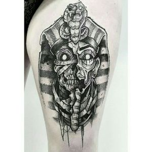 • Egyptian mask of death. #blackwork#blackworkers#black#work#tattoo#tattooartist#tattoomodel#ink#inked#inkedgirl#egypt#egyptian#antique#pharaoh#mummy#dead#death#grenoble#grenoblecity#blksheepstudio#blacksheep#blackandwhite#eyes#loxiput#darkartist#darkart