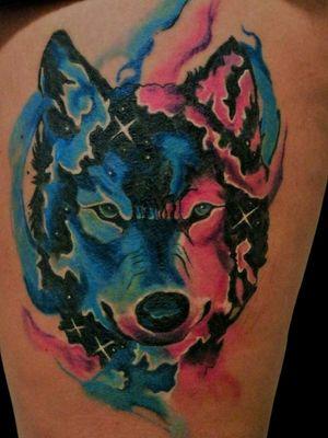 Lobinho aquarela cicatrizado ! #watercolor #aquarela #aquarelatattoo #tattoo #loboaquarela #wolf wolfwatercolor #tattooprime #tattooartist #tattooart #tattoo2me #artfusion