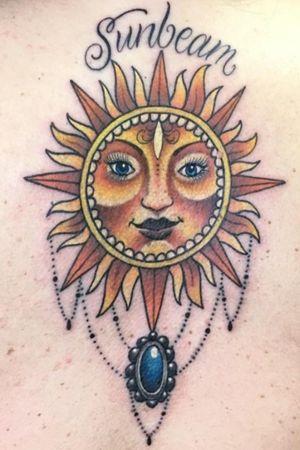 #sun #backtattoo #suntattoo