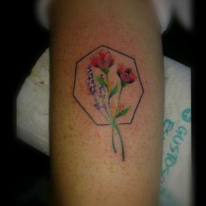 #tattooflower #tattooflor #littletattoo #colortattoo