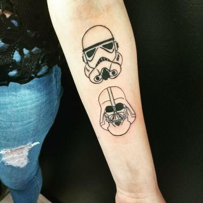 #starwarstattoo #stormtrooper #darthvader
