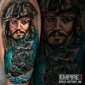 I did this portrait of #JackSparrow a couple of weeks ago over 2 days. What a fun project. #pirateship #PiratesoftheCaribbean #realistic #realism
