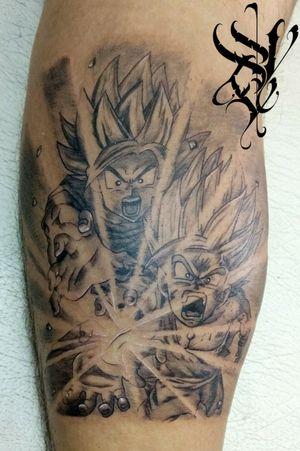 """Supera el poder, supéralo!!!"" #Tatuaje #Tattoo #Gohan #Goku #DragonBallZ #SSJ #Supersaiyajin #Poder #Power #BlackAndGray #MyWorldOfInk #DiabolicTattoo #MacabroLineaDeSangre #NoSeFracasaSiExisteUnComienzo"