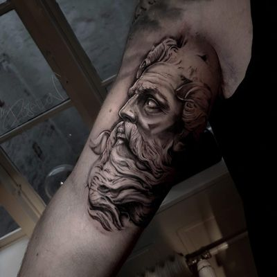 #poseidon #tattoo done by @TattooJones
