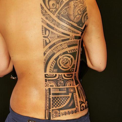 Still freehand work by mauri matanui tahitian ink worldwide