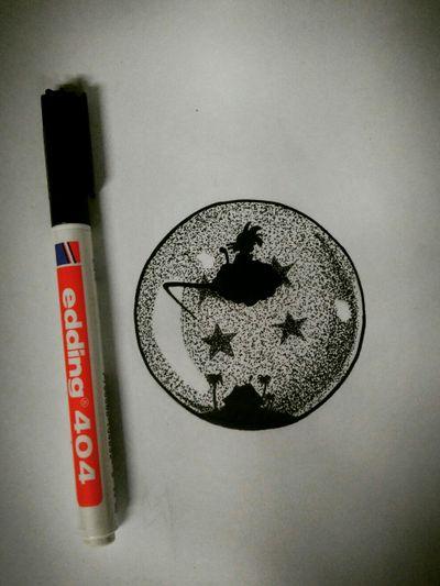 Acá les dejo un diseño de DragonBall en Puntillismo. Espero les guste! #Dotwork #Puntillismo #Inkvan #linework #Goku #esfera #Dragonball