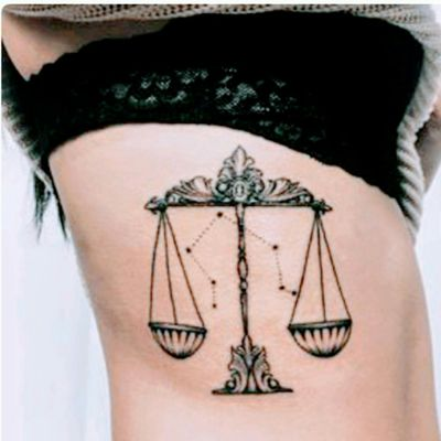 It's ALL about #balance As a #libra I've got to throw out some #love and share my findINKs (<-- findings😉) #zodiacsign #astrology #sunsign #7 #constellation #ribtattoo Thisis not my tattoo, not my picture, found on #pintrest