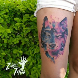 #tattooaquarela #tattoocolors #tattoocoxa