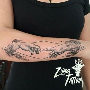 #tattooantebraco #tattoofeminina #tattooreligiosa #tattoopontilhismo #tattoofineline