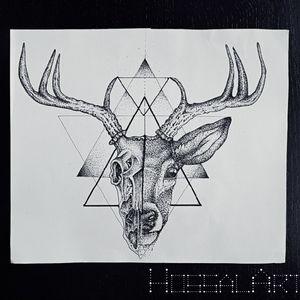 #deerskull #deer #dotwork