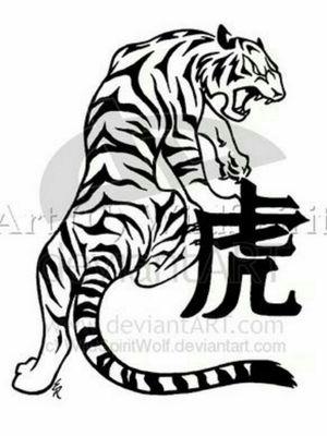 #tiger #chinese #horoscope #blackandgreytattoo #animal
