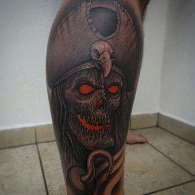 #freehand #tattoo #tattoos #tatoodo #monster #devil #evil #eyes #satan #fromhelltattoo #fromhell #texture #tattoolife #tattooer #tattooart #tatuaje #tattooartist #inked #ink #skinart #art #artist #blackandgrey #bodyart #darktattoo #darkart #devil #evil #pirate