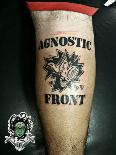 #NaneMedusaTattoo #tattoo #tatuagem #black #blackworktattoo #agnosticfront #hardcore #band #rock