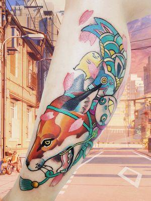 Kawaii kitsune #fox #foxtattoos #kitsunefox #kitsunetattoo #kawaiitattoo #kawaii #Singapore #singaporetattoo #artist