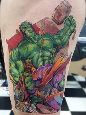 Trabalho premiado como 1° lugar comics na 1° Serra Ink em Teresópolis / 1st place Comics award at Serra Ink in Teresópolis, Rio de Janeiro . 🔥 Horários disponíveis 🔥 🏢Rua Dr. Alfredo Barcelos, 16 - Olaria. ☎️ (21) 98145-2755 💻 guilhermesalles.mct@outlook.com 📩 Direct . . . #tattoo #tattooartist #ink #inked #tattooed #tattooist #tatuagem #nofilter #tattooflash #comics #comicstattoo #geek #geektattoo #nerd #fineline #finelinetattoo #comics #comicstattoo #hulk #hulktattoo