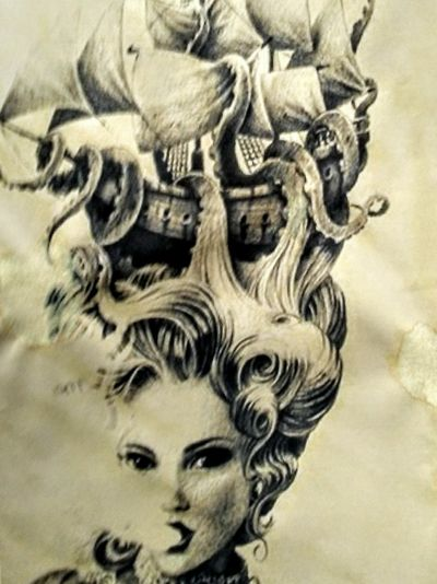 I could not fit the entire photo, but you get the gist of it. This will be the twin to my left forearm scar cover up. It will be on my right forearm from wrist to Elbow. Looking for a good shop that can do both very well and professionally. #forearmtattoo #NeedAnAmazingArtistToCreateMyDreamTattoo #milwaukee. #victorian #pirate. #octopus. #kraken #babe