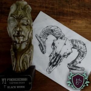 Arte autoral que fiz, e premiada em 1° Lugar na categoria Blackwork . . . . ***Todos por um mundo mais colorido(mesmo q seja com preto, rs) com qualidade.*** .. .. ... #AndreMeloTattooArtist #MelosTattooInk #tatuagem #tattoo #tattoing #tattooart #tattooer #tattooist #tatuadoresbrasileiros #tatuagembrasil #art #drawing #tattoomachine #rotarymachinetattoo #vilaclementino #vilamariana #ibirapuera #blackwork #blackworktatoo #dotwork #sketch #sketchtattoo #sketchwork #black #blackworkes #blackfuckingwork #baphomet #pentagrama #bode