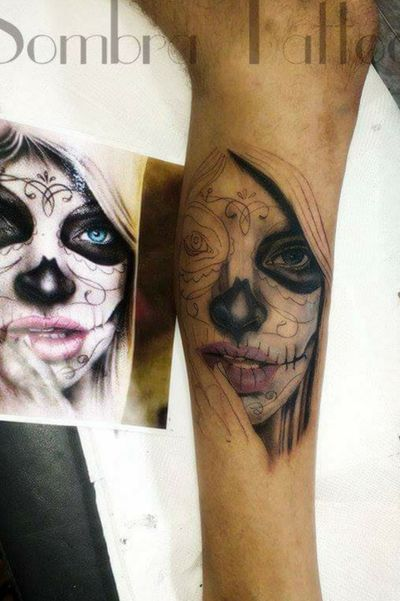 #catrina#em #andamento#Sombra tattoo