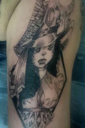 #bruxa#blacwork#tattoo#love#