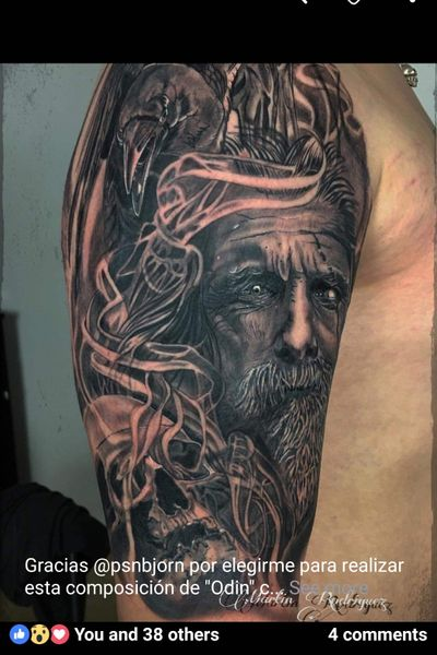 #zerolimitstattoo #Odin #NorseTattoos #mythology