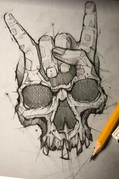 #rock #tatoo #skull