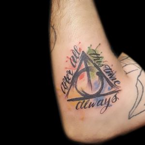 Harry Potter Watercolor Tattoo ➕➕