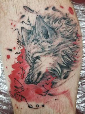 #wolf #wolftattoo #wolfhead #trashpolkatattoo #trashpolka #tattooideas #tattoooftheday #acidburn #tattoo