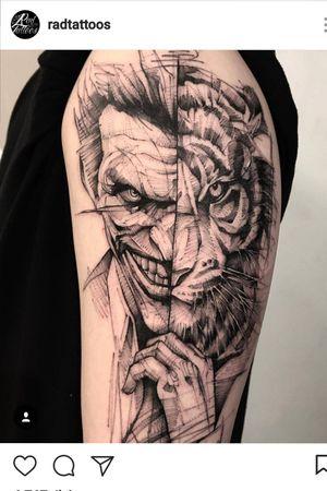 #Joker  #face #tiger  #tatoo #original
