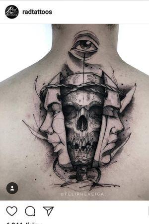 #skull #face #tatoo #original