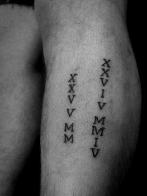 Roman numerals  #handpoke #dates #roman