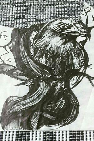 #skitze #vorlage #dreamtattoo #mindblowing #mone1971 #follower #follow #followforfollow#artist #skitze #vorlage #germantattooers #hellotattoomed #inkgirl #inked #tattooedwoman #tattooedgirl #rabe #baum #schwarz #dunkel