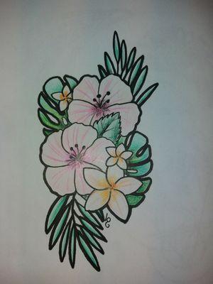 #fleurs #tattoocolors #ExoticTattoo #hibiscustattoo