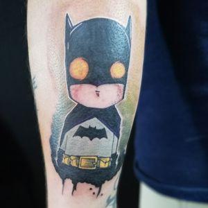 Mini Batman (My first color tattoo)