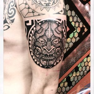 INSTAGRAM the_sym_tattoo  #tribal #tribaltattoo #hannya #hannyatattoo #thesymtattoo #moderntribal