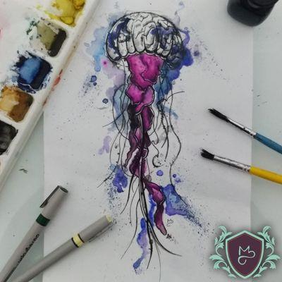 Água viva em um misto de Blackwork com Aquarela, essa já está na pele da @manulousada =] . Arte autoral 😊😎😊 . . .. Quer uma arte pensada pra ti? orçamento pelo e-mail . andremelotattooartist@gmail.com . . . ***Todos por um mundo mais colorido com qualidade.*** .. .. ... #AndreMeloTattooArtist #MelosTattooInk #tatuagem #tattoo #tattoing #tattooart #tattooer #tattooist #tatuadoresbrasileiros #tatuagembrasil #art #drawing #tattoomachine #rotarymachinetattoo #vilaclementino #vilamariana #ibirapuerapark #ibirapuera #watercolor #watercolortattoo #aquarela #sketch #sketching #drawingtattoo #jellyfish #jellyfishtattoo #águaviva