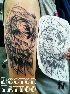 #tattooartist #tattooart #owltattoos #owltattoos #doctortattoo #tatuagem #tatuadoresdobrasil #lovetattoos #ilovetattoo #tattooartistmagazine #tatuagembrasil