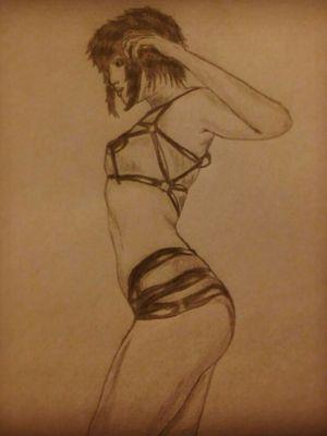 Dibujo tranki #dibujolapiz #tattooart #blanckandgrey #pinupgirl #boceto