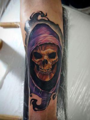 #skulltattoo #esqueletotattoo #fullcolortattoo