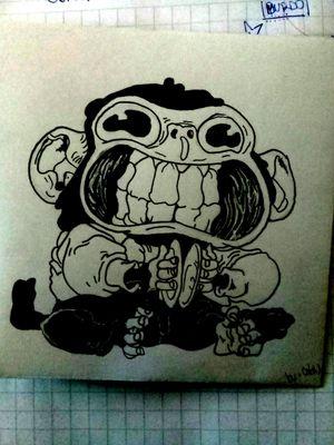 #chile #monkey #InspirationTatto #crazy #smile #FuckYou #stgo #sk84life