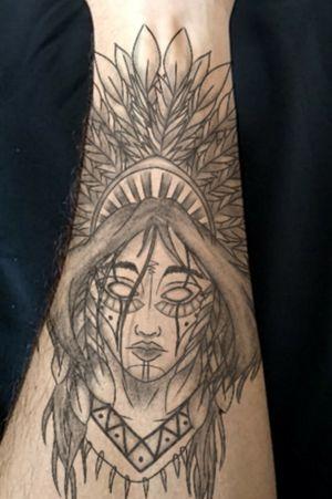 Rosto de índia tattoo