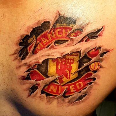 #badge #Football #manchesterunited #chesttattoo #chest #manchester