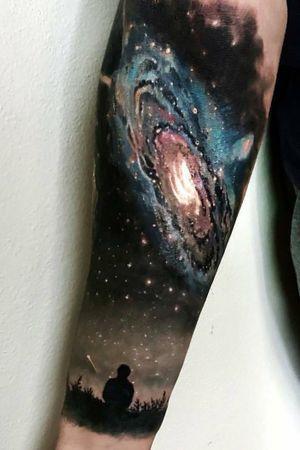 #galaxy #galaxytattoo #space #stars #colour #colourtattoo #realistictattoo #realismtattoo #realism