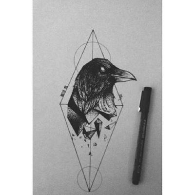 Tattoo idea by me :)) #tattoo #tattooart #tattoodrawing #tattoo #crowtattoo #crow