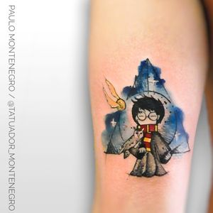Harry Potter 🔥🔥🔥 $ #watercolortattoos #watercolortattoo #HarryPotterTattoos #colorful