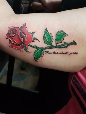 New school rose piece thx for looking #newschool #newschooltattoo #colortattoo #colortattoos