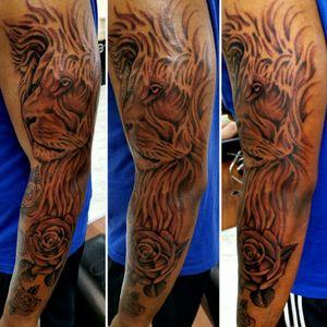 #lion #liontattoos #blackngreyislife #blackngreytattoos #Alaskamilitary #anchorage #tattooed #blackngreysociety #artdriven