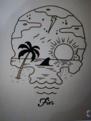 Paradise #skulltattoo