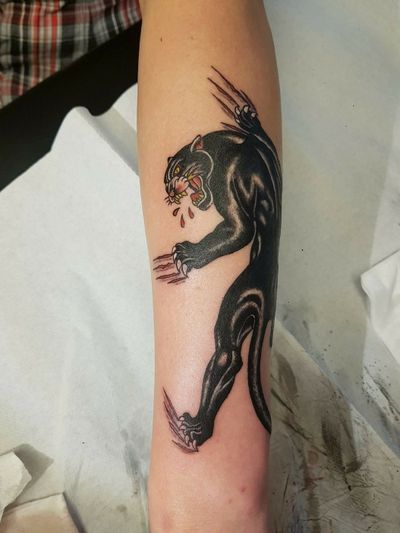 #panthertattoo #panther #oldschooltattoo #oldschool