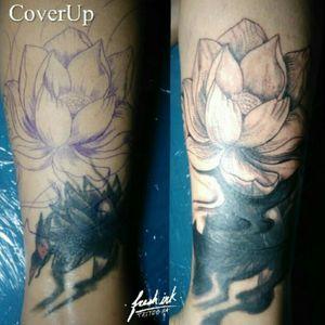 Cover up - Lotus By: Xtopher Alvarado Appointment Contact.  Tattoo Artist from Puerto Rico. Xtopheralvardo@gmail.com WhatsApp- 939 • 238 • 0503 Black & Gray Tattoos.  #xatattoo #fresh_ink_xa ___________________________ #freshink #tattoo #blackngray #tattoodo #instattattoo #inked #tattoos #tattoopr #tattooartist #tattoo_of_instagram #guyswithtattoos #blacktattoos  #sleevetattoo #tattoolife #inkig #lifestyletattoo #tattoomens  #tattooskin #professionaltattooartist #tattooed #xtopheralvaradotattoo #worldfamousink #freshinkxa #teamfreshink #tattooink #tattooart #inkaddicted #inkeezegreenglide #freshinkteam